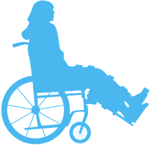 Person in Wheelchair silueta