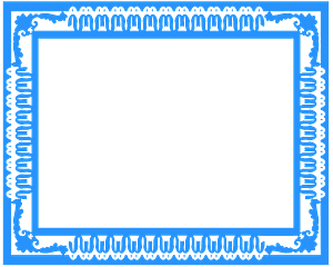 Рамка с узором - Векторный Силуэт