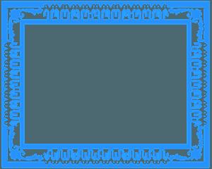 Moldura Ornamentada silhueta vetor