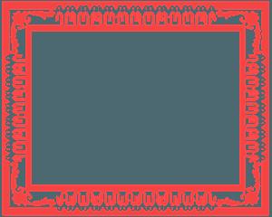 verzierter Rahmen vektor silhouette