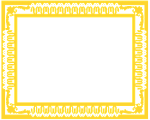 Sierlijke frame vector silhouet