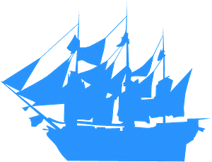 Gammalt Skepp silhuett