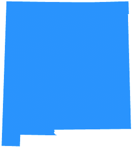 New Mexico Map silhouette