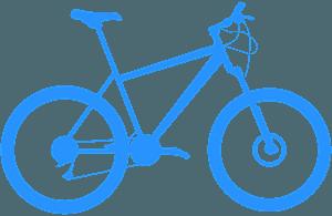 Горный велосипед - Векторный Силуэт