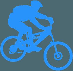 Ciclista di mountain bike silhouette