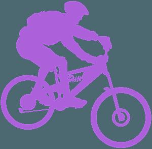 Mountainbikecyklist silhuett