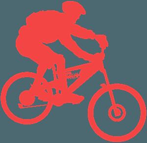 Silueta de Ciclista de Montaña vector