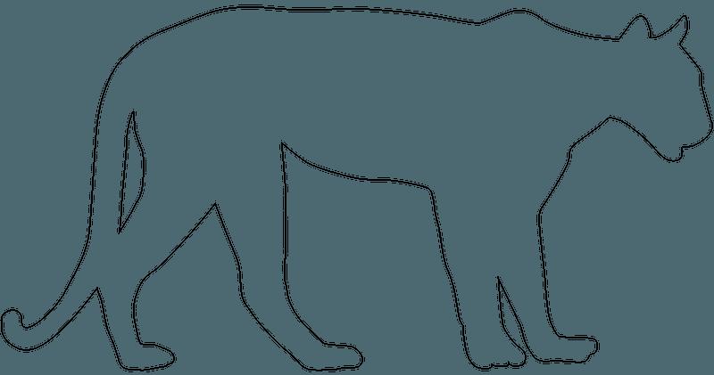 Mountain Lion Silhouette Free Vector Silhouettes Creazilla