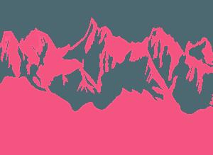 Chaîne de montagnes silhouette