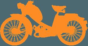 Moped vektor silhouette