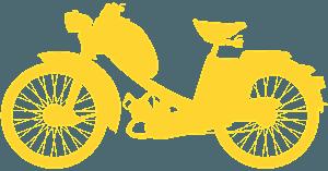 Silueta de Motocicleta vector