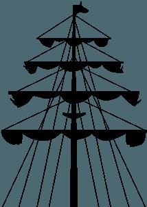 Mast silhouette