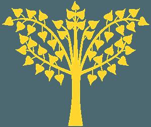 Bodhi vektor silhuet