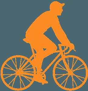 Uomo in bici silhouette
