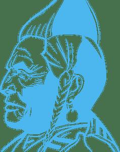 Native American warrior的剪影