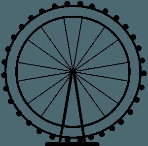 London Eye vector silhouet