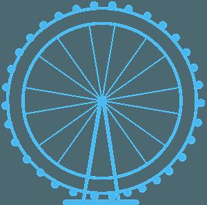 London Eye vektor silhuet