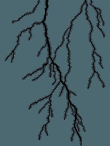 Blixt silhuett