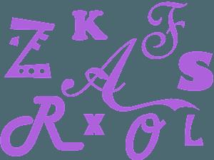 字母的剪影