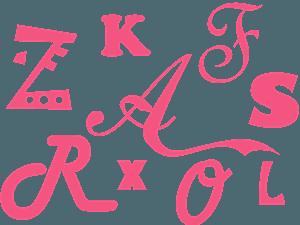 Silueta de Letras vector