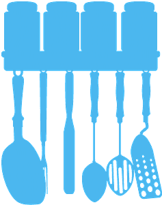 Silueta de Objetos de la Cocina vector