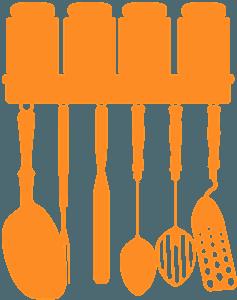 Keittiövälineitä siluetti