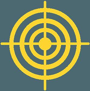 Zielscheibe vektor silhouette
