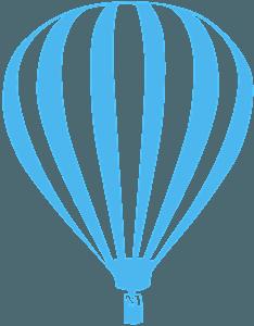 Silueta de Globo Aerostático vector