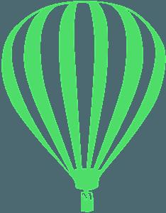Heteluchtballon vector silhouet