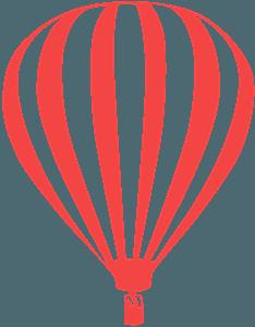 Balon - sylwetka wektorowa