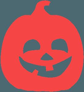 Silueta de Calabaza de Halloween vector