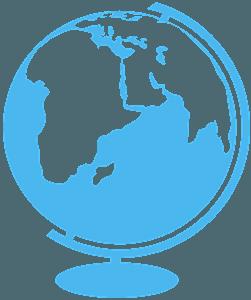 Globe silhouette