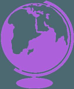 Mappamondo silhouette