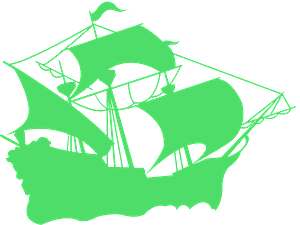 Galleone vektor silhouette