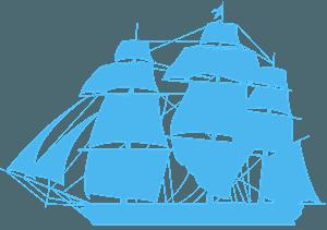 Фрегат - векторний силует