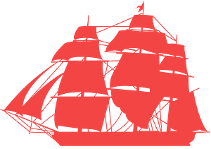 Fregatt silhuett