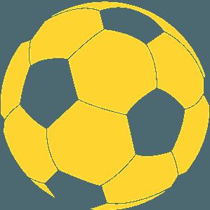 Piłka nożna - sylwetka wektorowa
