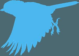 fliegende Weidenmeise vektor silhouette