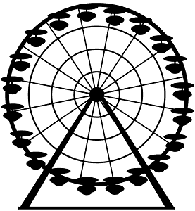 Pariserhjul silhuett
