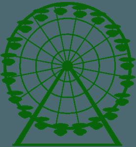 Pariserhjul vektor silhuet
