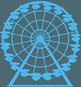 Grande roue silhouette