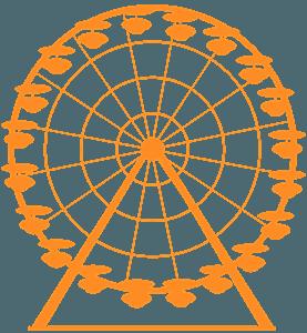 Колесо обозрения - Векторный Силуэт