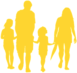 Family Holding Hands silhouette