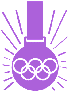 Médaille d'or silhouette