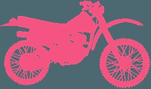 Geländemotorrad vektor silhouette