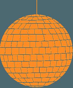 Discoboll silhuett