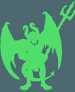 Silueta de Demonio vector