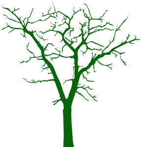 Árvore Morta silhueta vetor