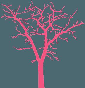 Drzewo bez liści - sylwetka wektorowa