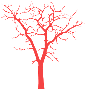 Kuollut puu siluetti